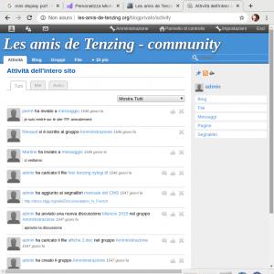 community blog privato